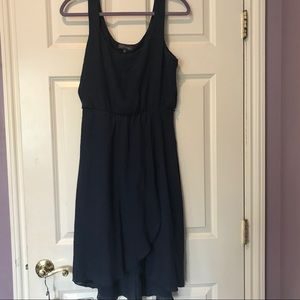Draped linen midi-dress